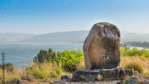Mount of the Beatitudes and the lake of tiberias Wallpaper Mural