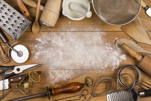 Fotografia  Kitchen Utensils - Space for Text