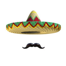 Mexican Hat Sombrero With Must...