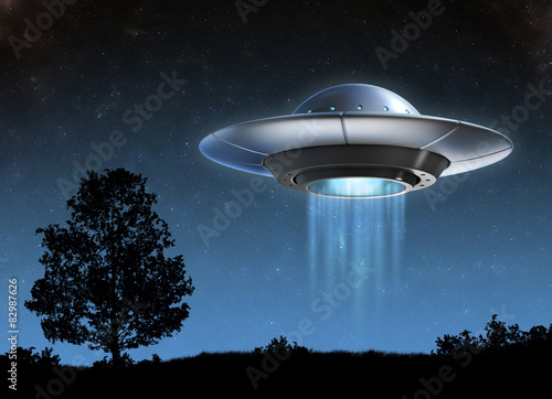 Alien spaceship Poster