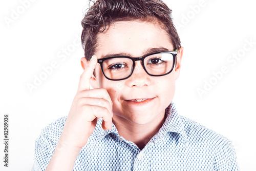 Fotografie, Obraz  Adolescente con occhiali da vista