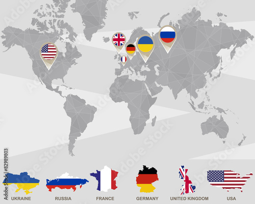 World map with Ukraine, Russia, France, Germany, United ... on israel in the world map, liberia in the world map, taiwan in the world map, croatia in the world map, jersey in the world map, costa rica in the world map, west indies in the world map, eiffel tower in the world map, india in the world map, bahrain in the world map, kiribati in the world map, abu dhabi in the world map, japan in the world map, bermuda in the world map, fiji in the world map, colombia in the world map, sudan in the world map, falkland islands in the world map, myanmar in the world map, dominican republic in the world map,
