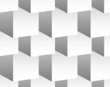Cubical pattern. Repeatable background with 3d cube shapes. Gray - 82990228