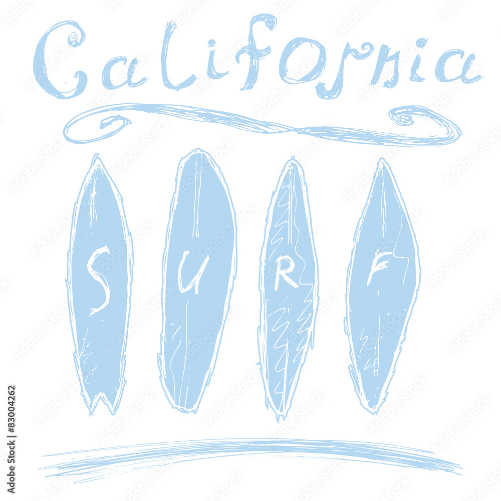 6f467ba3 Photo & Art Print California surf typography, vector t-shirt Printing  design | EuroPosters