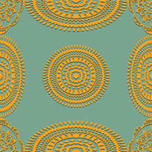 Seamless Pattern On Green Background