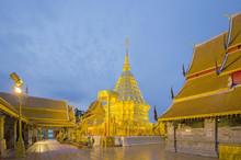 Pra Thad Doi Suthep Pagoda In Morning Time At Thailand