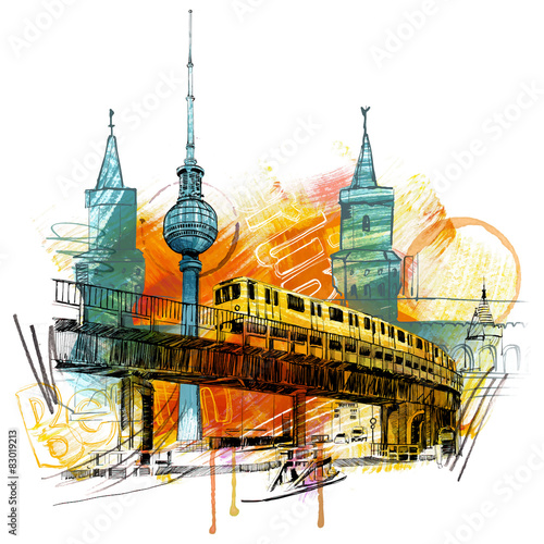 Obraz w ramie Berlin Style