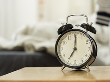 Retro Alarm Clock Show 7 O'clock In The Morning For Wake Up