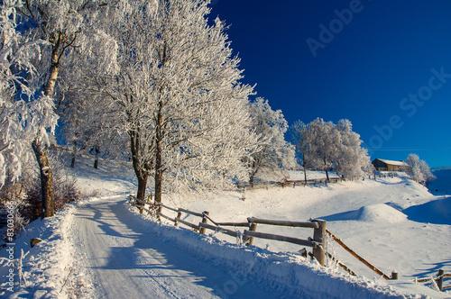 Foto op Aluminium Nachtblauw Kaszuby zimą