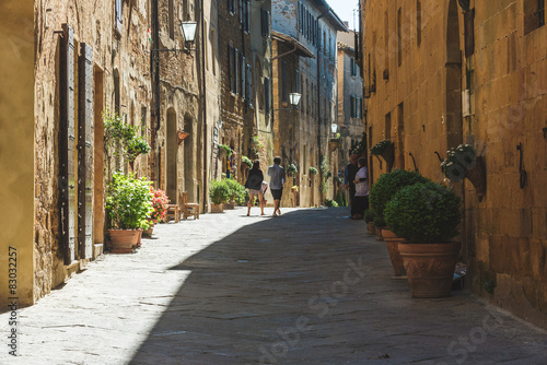 Fototapety, obrazy: Beautiful colorful streets of the Tuscan town on a sunny day