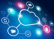 Leinwandbild Motiv Cloud Network