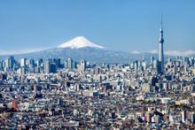 Tokyo Skyline Mit Mount Fuji U...