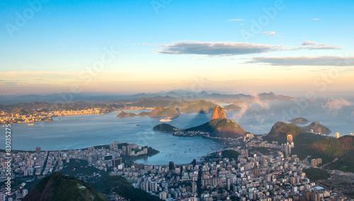Photo Rio de Janeiro, view from Corcovado to Sugarloaf Mountain