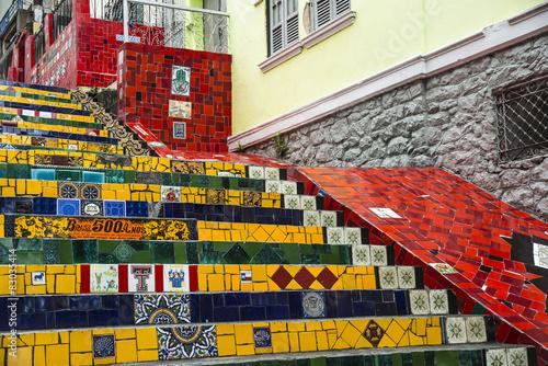 obraz PCV Escadaria Selaron, Rio de Janeiro, Brazylia
