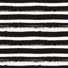 Hand Drawn Striped Seamless Pattern