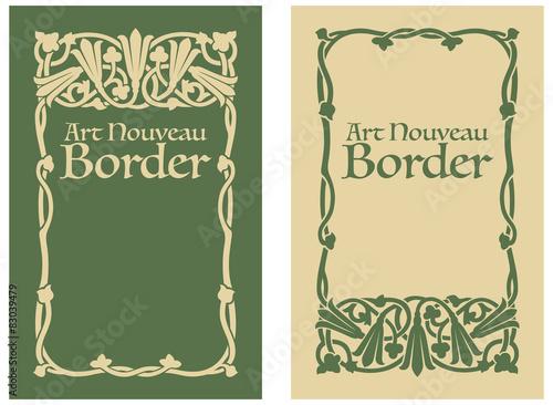 Fotografía  Art Nouveau Floral Border