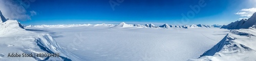 Spoed Foto op Canvas Antarctica Arctic winter in south Spitsbergen