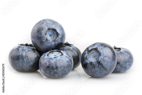 Foto op Canvas Vruchten blueberry isolated on white background