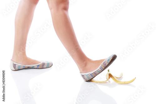 Fotografia, Obraz  leg on banana