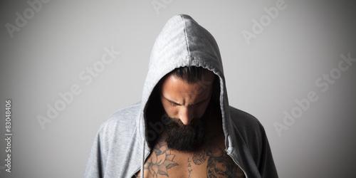 Fotografie, Obraz  Boxeador concentrado poco antes del Combate