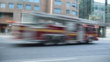 Firetruck In Blur Motion