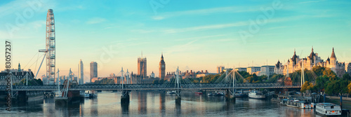 Poster London Thames River Panorama