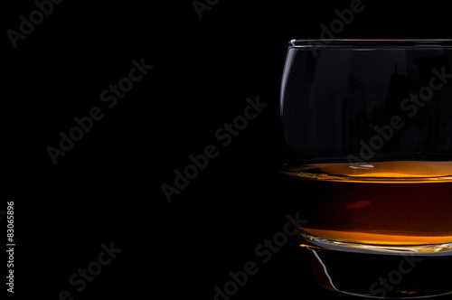 Foto op Canvas Alcohol Whisky glass