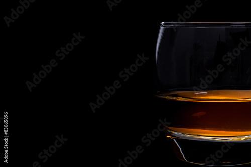 Foto auf Leinwand Alkohol Whisky glass