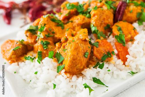 Valokuva Chicken curry