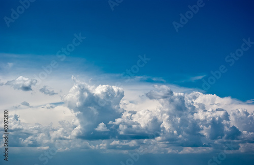 Garden Poster Heaven Beautiful sky with white clouds
