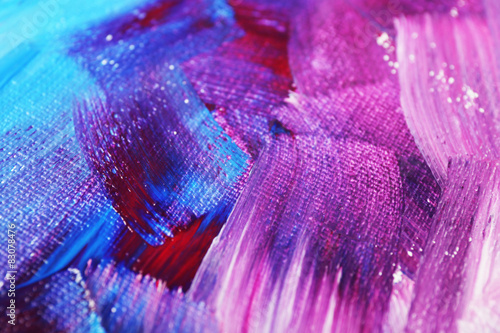 Abstract colorful brushstrokes as background - 83078476