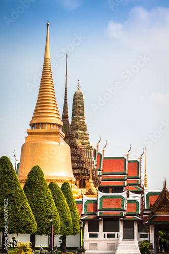 Wat Phra Kaew (Temple of the Emerald Buddha), Bangkok Thailand. Canvas Print