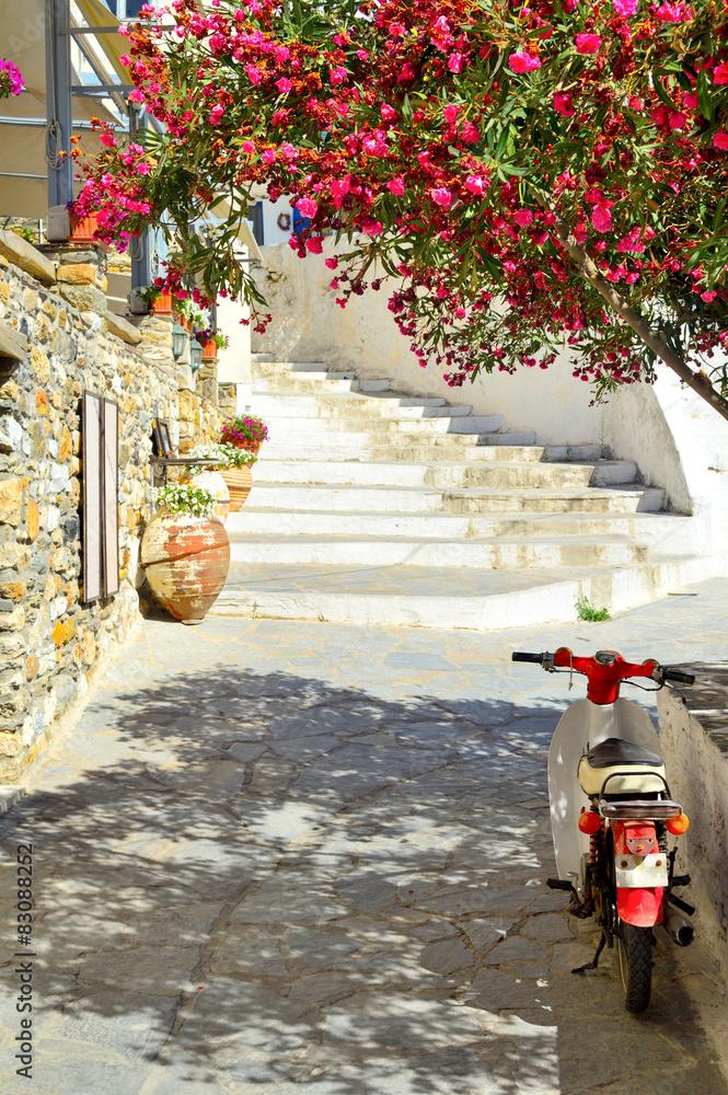 Fototapety, obrazy: Stara uliczka, Naxos wyspa, Grecja