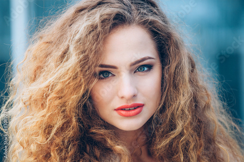 Fotografie, Obraz  Beauty Girl Outdoors enjoying nature. Beautiful Teenage Model