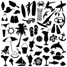 Set Of Summer Items