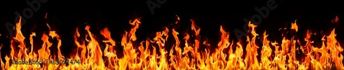 Foto op Canvas Vuur fire and flames on black background