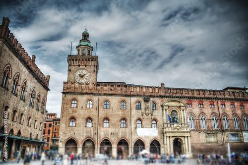 Staande foto Artistiek mon. Palazzo d'Accursio in Piazza Maggiore, Bologna