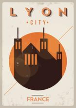 Lyon City Vintage Poster Design
