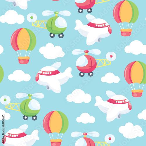 Foto auf Gartenposter Die magische Welt Come Fly With Me Seamless Pattern Background