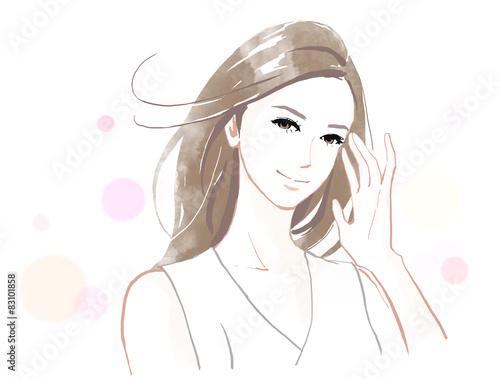 Fotografia  髪の綺麗な女性
