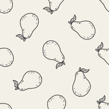 guava doodle seamless pattern background - 83103226