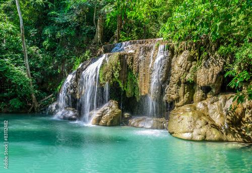 Fototapety, obrazy: Erawan Waterfall, Kanchanaburi, Thailand