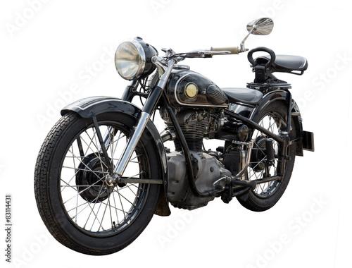 Poster Fiets altes antikes oldtimer Motorrad, vintage bike