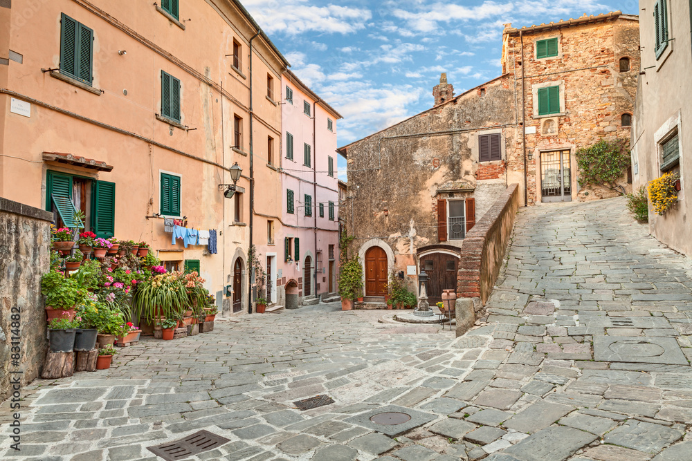 Fototapety, obrazy: Stare miasto Castagneto Carducci, Toskania, Włochy
