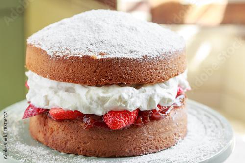 Victoria sponge cake Tablou Canvas