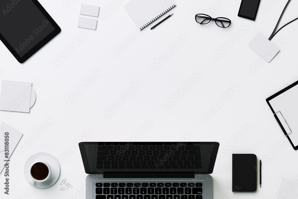 Fototapeta White template for branding identity with copyspace