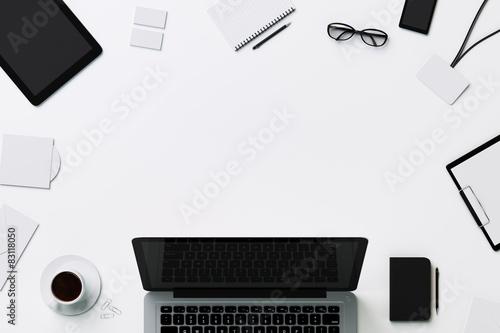 Fototapeta White template for branding identity with copyspace obraz