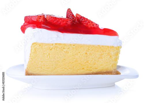 Strawberry Cake isolated Tapéta, Fotótapéta