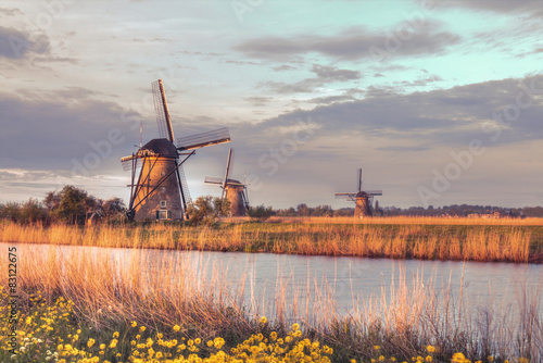 Windmills in Kinderdijk, Netherlands #83122675