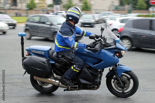Fotografía  Gendarmería Moto